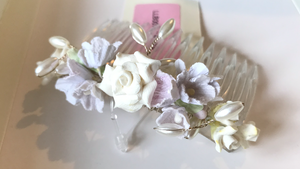 Clearance - Pretty flower girl hair comb by Linzi Jay