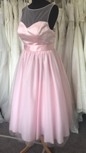 Load image into Gallery viewer, Shop Sample - Baby Pink Tea length Bridesmaid Dress by Linzi Jay Size 16 - EN395