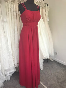 Shop Sample - Bordeaux Chiffon Bridesmaid Dress by Pure Bridal - Size 16