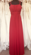 Load image into Gallery viewer, Shop Sample - Bordeaux Chiffon Bridesmaid Dress by Pure Bridal - Size 16