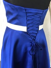 Load image into Gallery viewer, Shop Sample - Royal Blue Knee length Bridesmaid Dress by Linzi Jay Size 16 - EN170