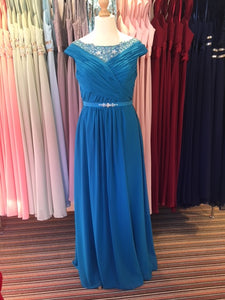 Ex Shop Sample EN367 - Dark Turquoise Bridesmaid Dress Size 16