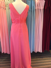 Load image into Gallery viewer, Ex Shop Sample EN364SP  - Coral Chiffon V Neck Bridesmaid Dress by Linzi Jay - Size 20