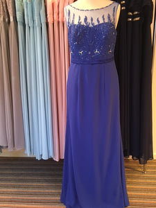 Ex Shop Sample EN363 - Royal Blue Bridesmaid Dress Size 16