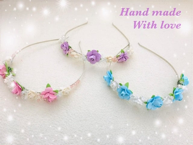 'Handmade with Love' Bridesmaid/Flowergirl Headband