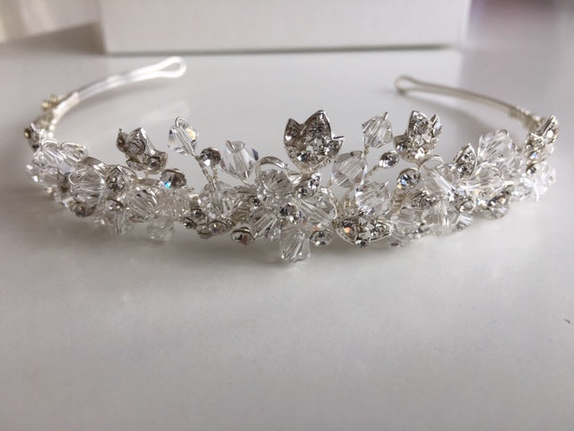 A Crystal & Diamante Tiara by Twilight Designs TLT4519 - 3cm high