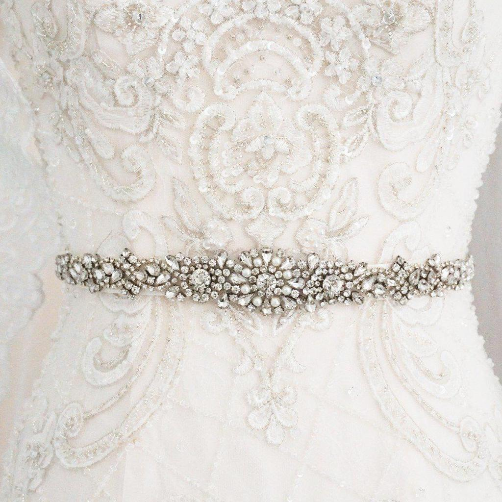 Liv Pearl & Diamante Wedding Belt