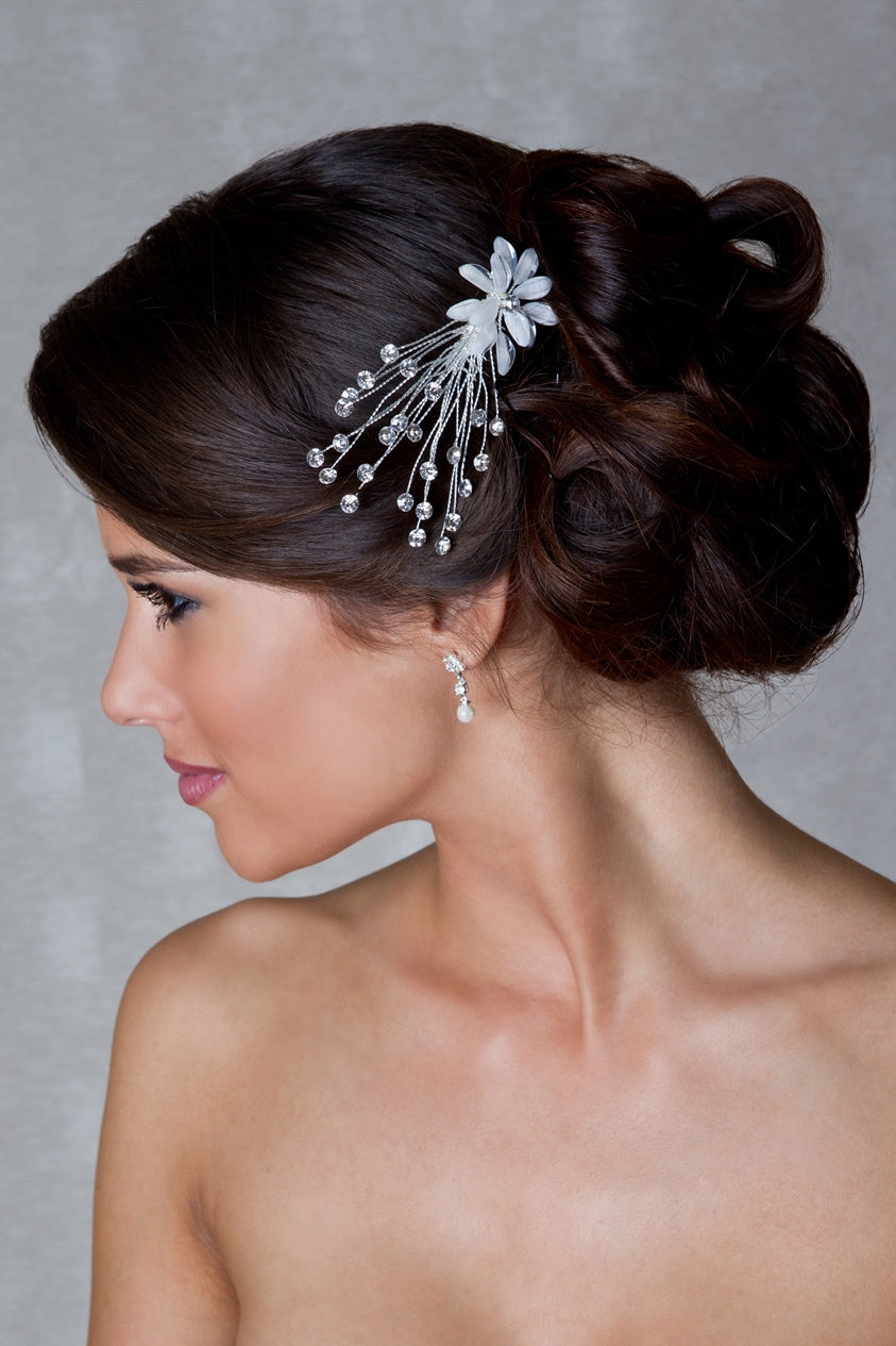 Silver Bridal Hair Comb - Paris