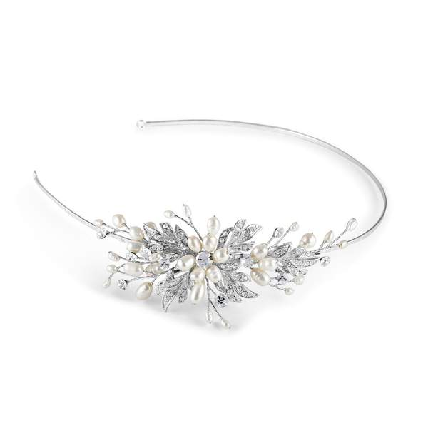 Paris Side Tiara with Pearls by Starlet Jewellery
