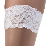 Bridal Bi-Colour Stay Up Stockings by Piorier- ST-500 - CLEARANCE