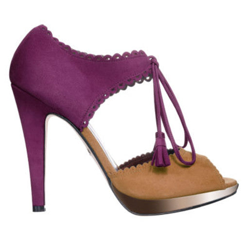 Limited Edition Love Art Wear Art peep toe sandals in Kid Suede