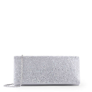 Darbie -  Silver Diamanté Clutch Bag