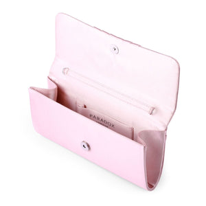 Darrah  -  Blush Ruched Clutch Bag