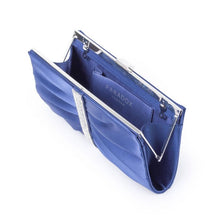 Load image into Gallery viewer, Denver - Navy Ruche Detailed Clutch Bag