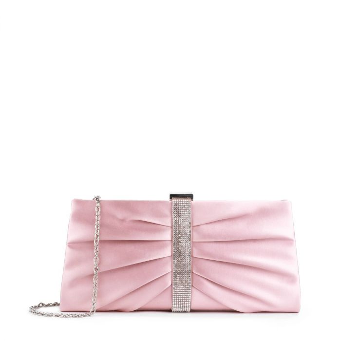 Denver - Blush Pink Ruche Detailed Clutch Bag