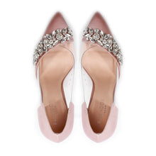 Load image into Gallery viewer, Frida - Blush Satin High Heel Court Shoe by Paradox London