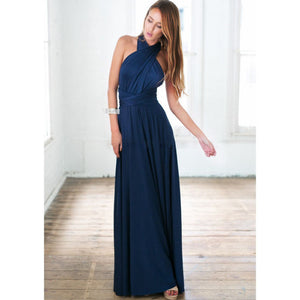 Clearance - Multiway Prom Gown/Bridesmaid Dress in Navy Blue