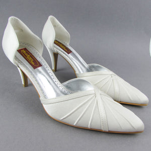 Ruby by Meadows Ivory Satin Court Wedding Shoe