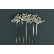 Load image into Gallery viewer, Diamante & Pearl Hair Comb TLH3045 by Twilight Designs