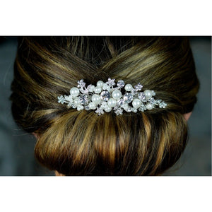 Diamante & Pearl Hair Comb TLH3045 by Twilight Designs