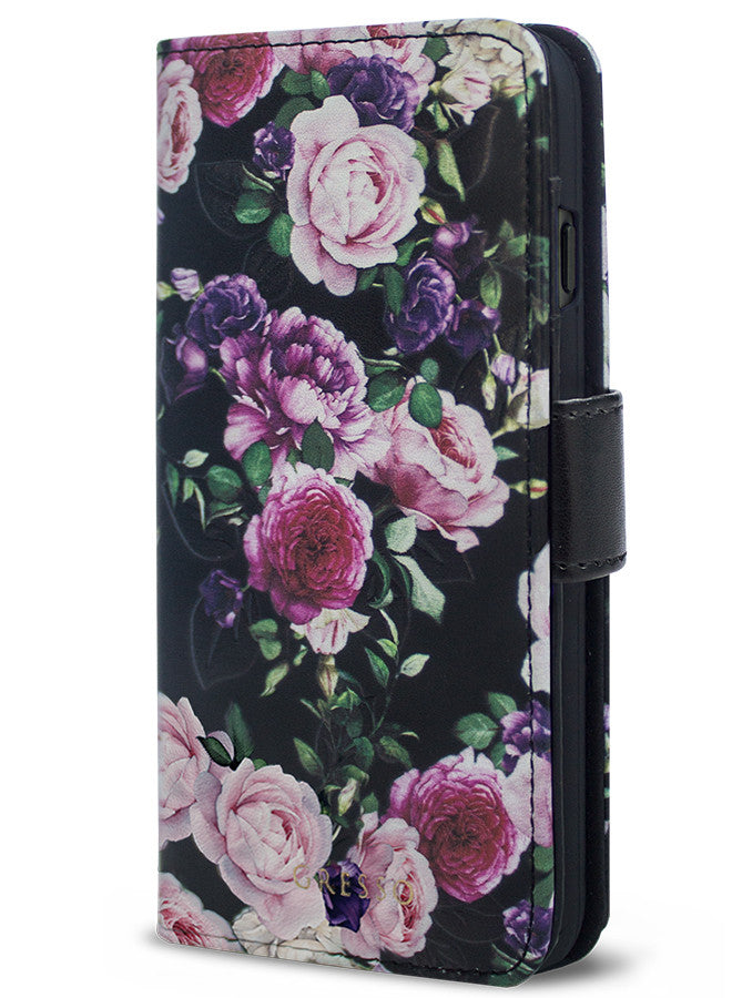 Victorian Gardens Purple Roses Wallet - iPhone 7 Plus