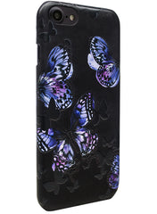 Flutter - Butterfly Stamping Leather Snap-On Case - iPhone 7