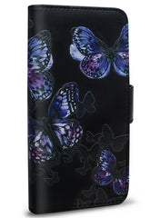 Flutter - Butterfly Stamping Leather Wallet - iPhone 6/6S/7