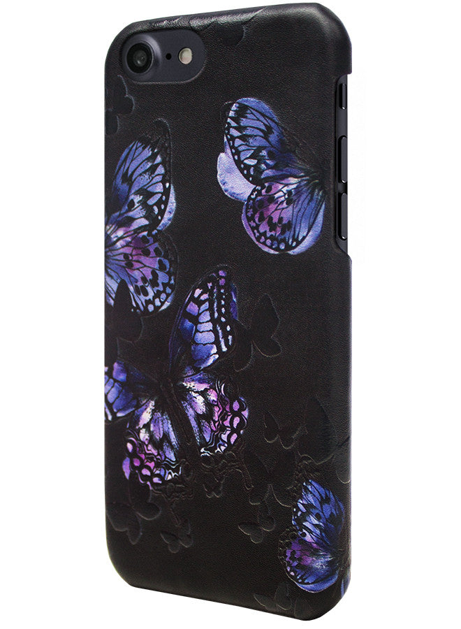 Flutter - Butterfly Stamping Leather Snap-On Case - iPhone 6/6s Plus