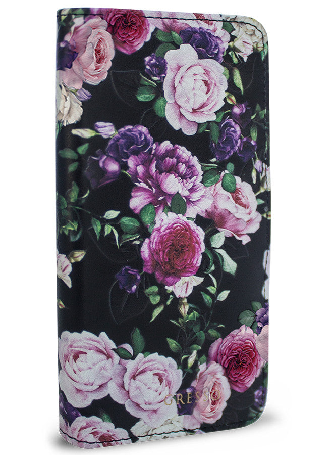 Victorian Gardens Purple Roses Wallet - iPhone 6/6s Plus