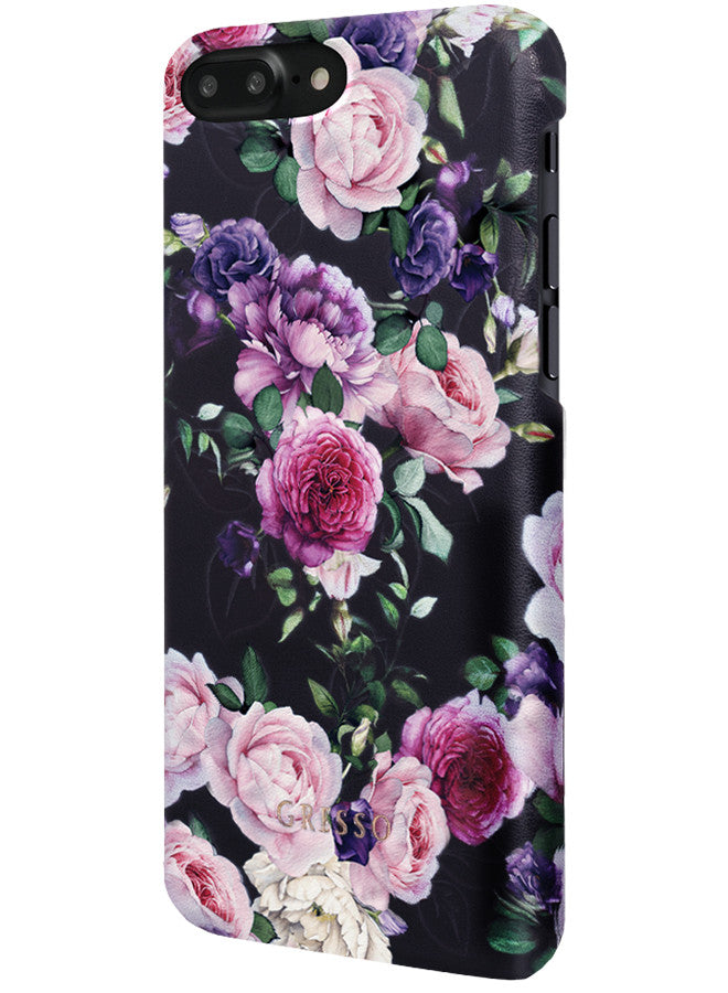 victorian garden purple rose snap on case iphone 6 6s 7 plus