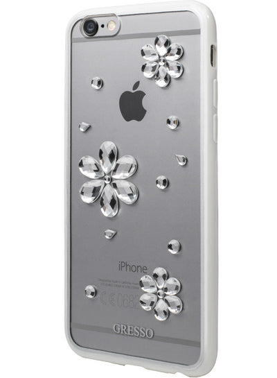 Shiny Crystals - Floral Snap-on Case - iPhone 6/6S