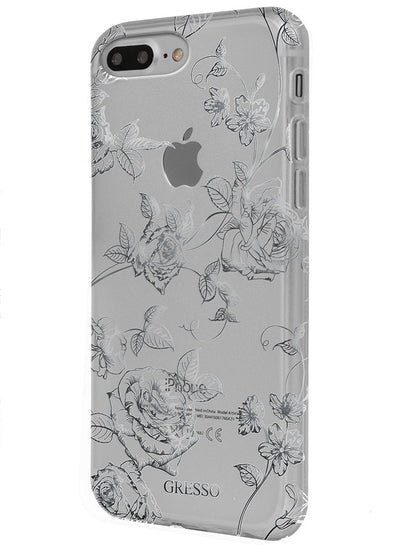 Harmony - Silver Roses Snap-on Case - iPhone 6/6S/7
