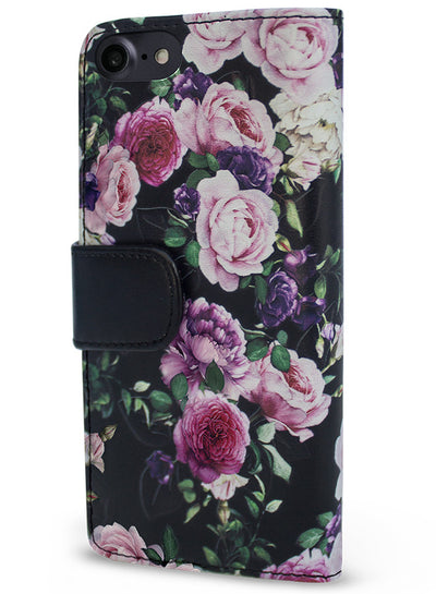 Victorian Garden - Purple Rose Wallet -  iPhone 7