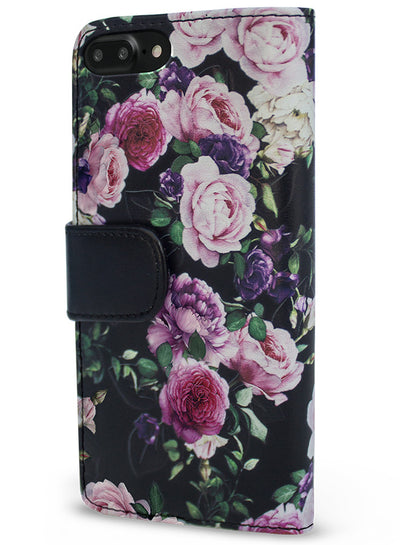 Victorian Gardens Purple Roses Wallet - iPhone 6/7 Plus