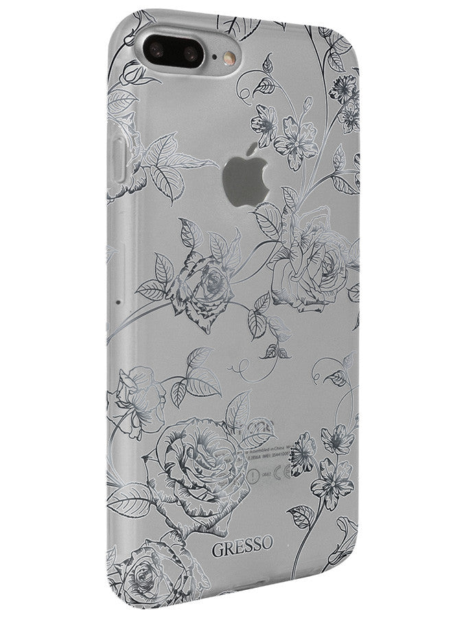 Harmony - Silver Roses Snap-on Case - iPhone 7 Plus