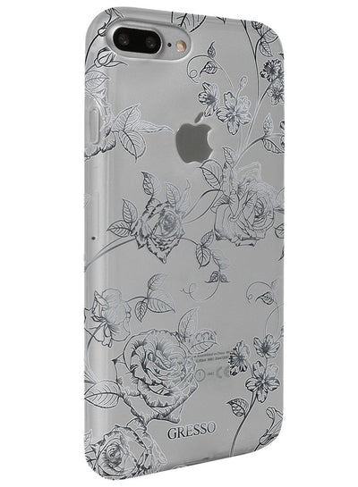 Harmony - Silver Roses Snap-on Case - iPhone 6/6S/7 Plus