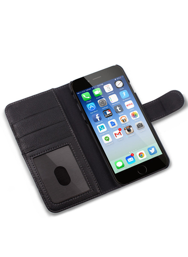 Albion in Black Wallet - iPhone 6/7 Plus