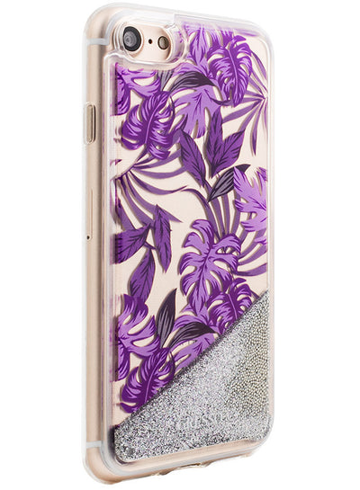 Jungle Glitter - Palmetto in Purple Snap-on Case - iPhone 7