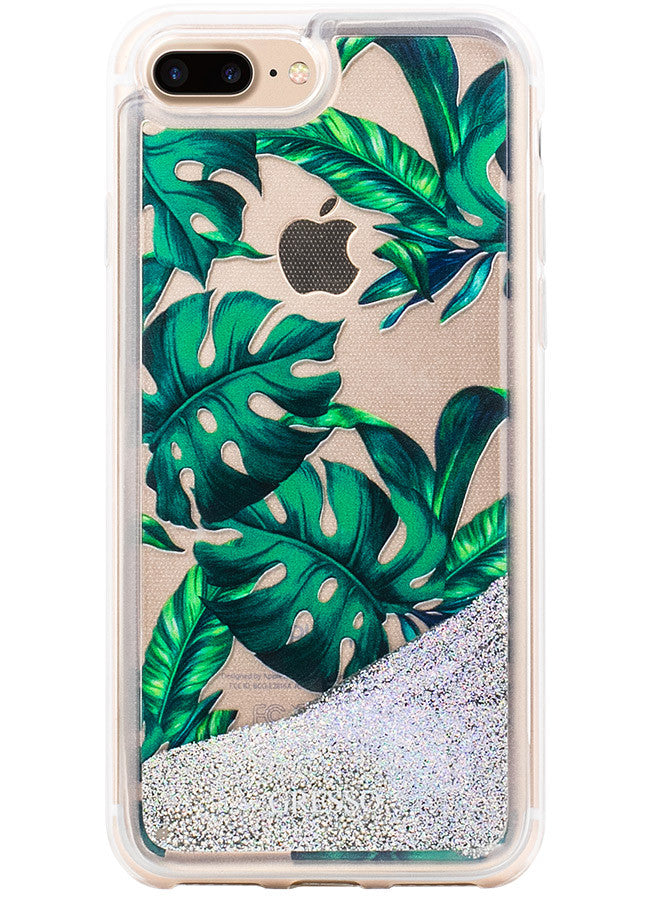 Jungle Glitter - Palmetto in Green Snap-on Case - iPhone 7 Plus