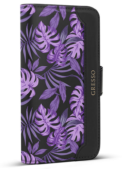 Midnight Tropics - Palmetto in Purple Wallet - iPhone 6/7 Plus