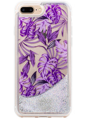 Jungle Glitter - Palmetto in Purple Snap-on Case - iPhone 7 Plus