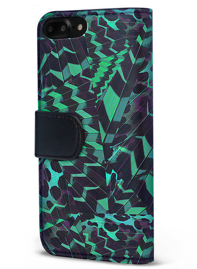 Midnight Tropics - Grove in Green Wallet - iPhone 6/7 Plus