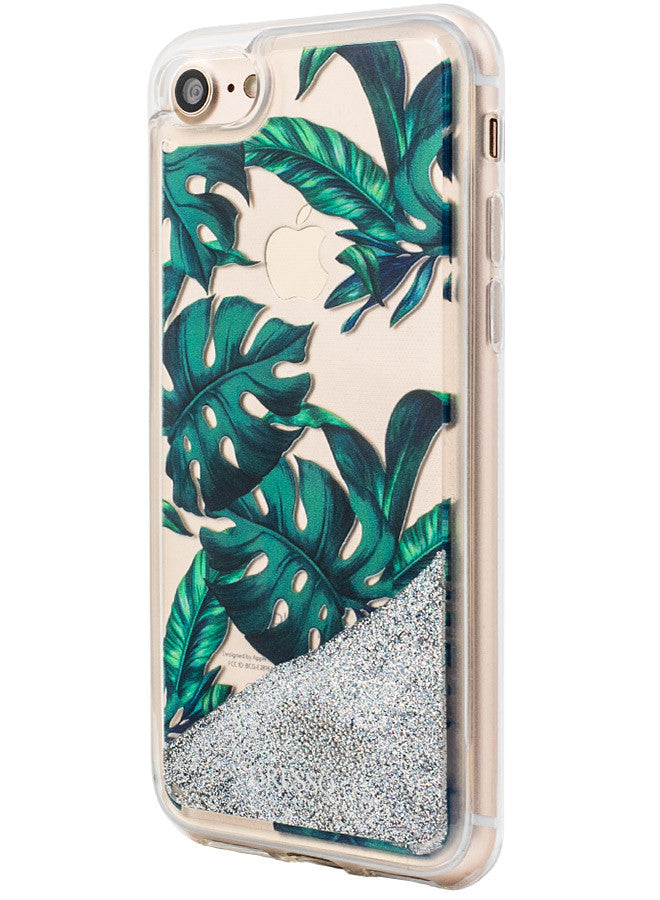 Jungle Glitter - Palmetto in Green Snap-on Case - iPhone 7