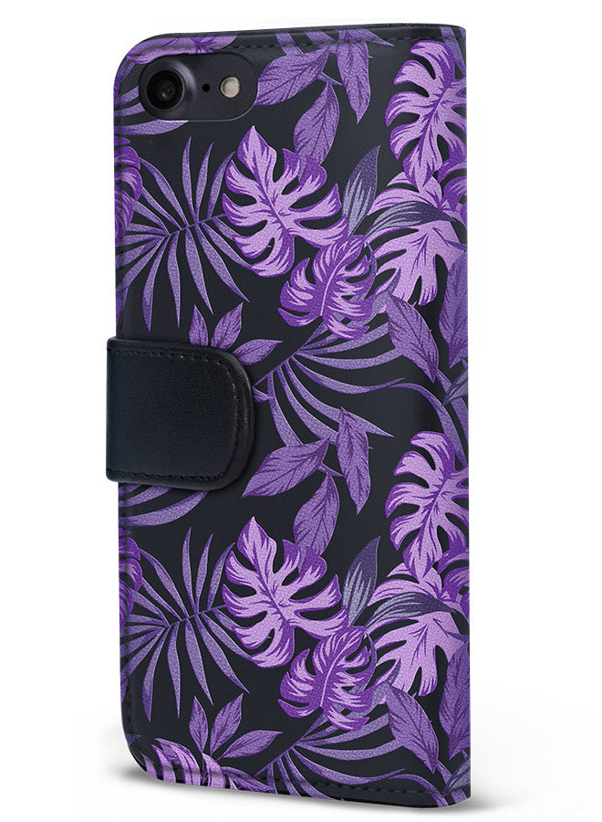 Midnight Tropics - Palmetto in Purple Wallet - iPhone 7