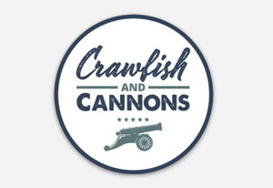 Crawfish and Cannons Sticker