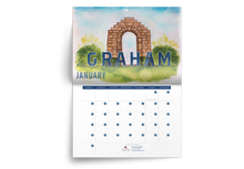 Load image into Gallery viewer, 2021 Graham, Texas Wall Calendar