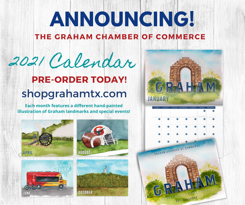 2021 Graham, Texas Wall Calendar