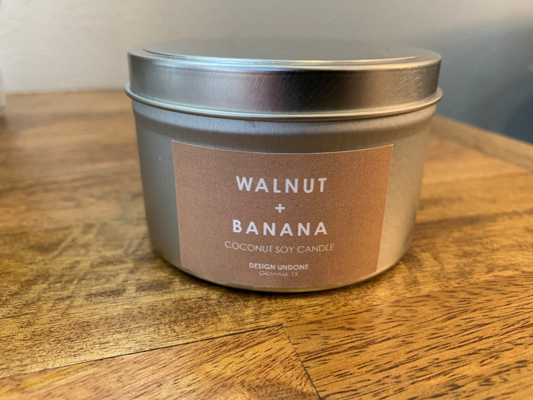 Walnut & Banana Candle