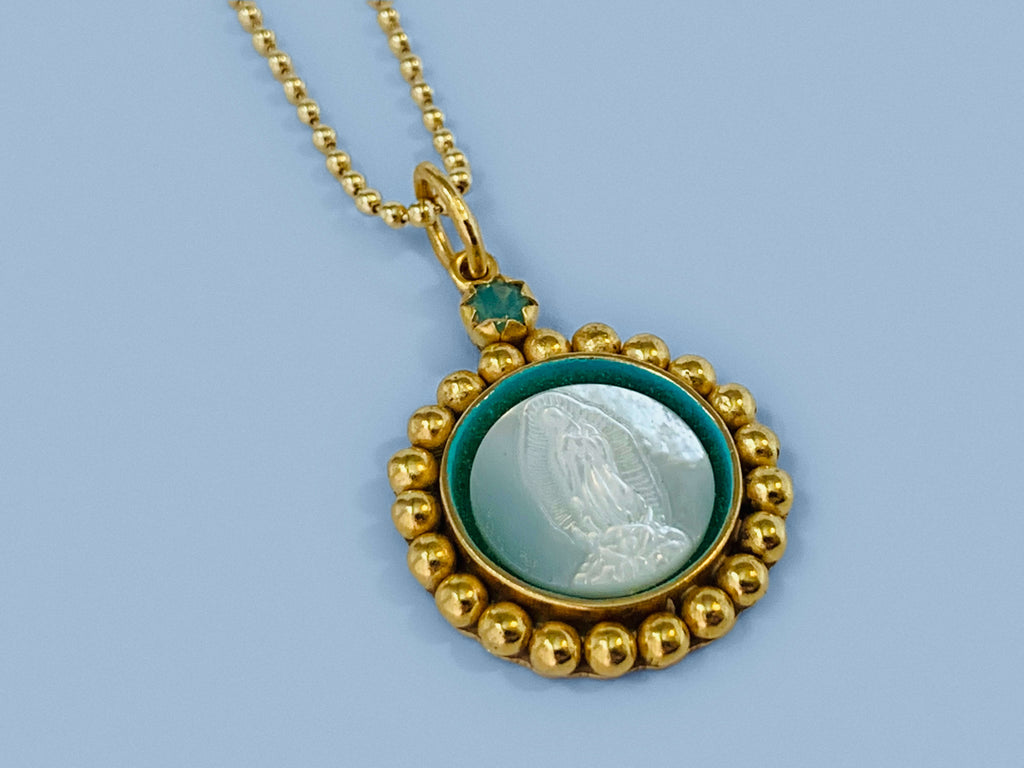 Our Lady of Guadalupe Gold Necklace