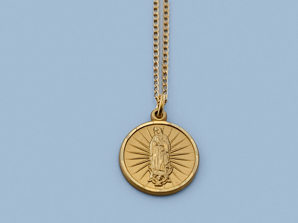 Our Lady of Guadalupe Necklace in Gold